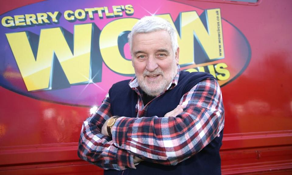 Gerry Cottle in 2017. He celebrate 50 years in the business by presenting 50 acts in 100 minutes.