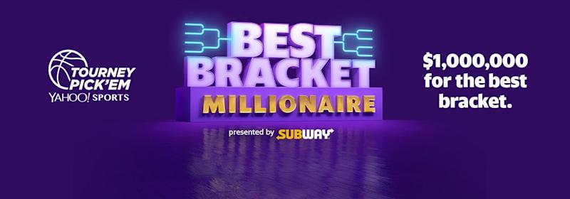 image about Yahoo Printable Bracket referred to as Gain $1 million cash with the Perfect Bracket Millionaire contest