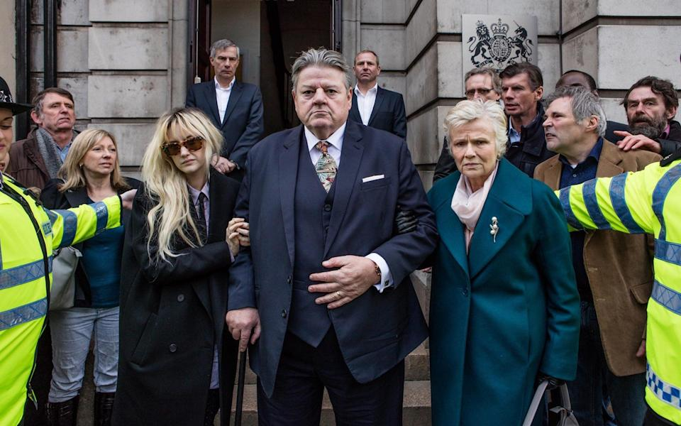 Andrea Riseborough, Robbie Coltrane and Julie Walters in National Treasure - Channel 4