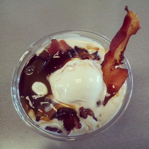 Burger King's bacon sundae, offered nationwide, is shown here.