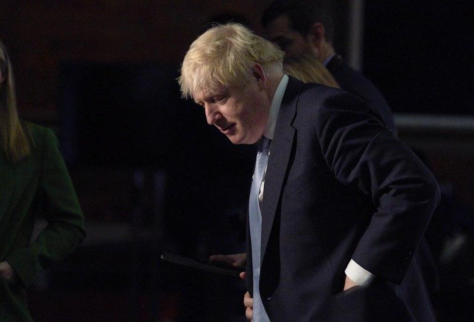 Boris Johnson taking part in media interviews during the Conservative Party conference in Manchester (Peter Byrne/PA) (PA Wire)