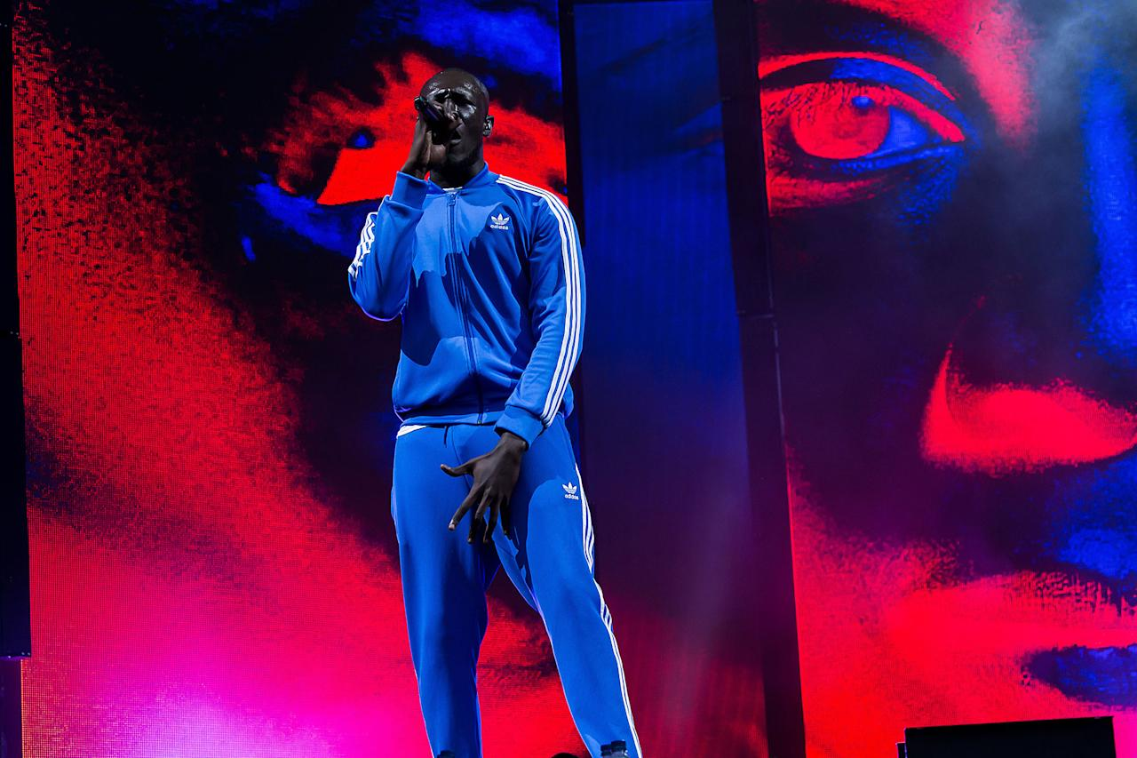 <p>Grime artist Stormzy performs at the Glastonbury Festival at Worthy Farm, in Somerset, England, Saturday, June 24, 2017. (Photo: Grant Pollard/Invision/AP) </p>