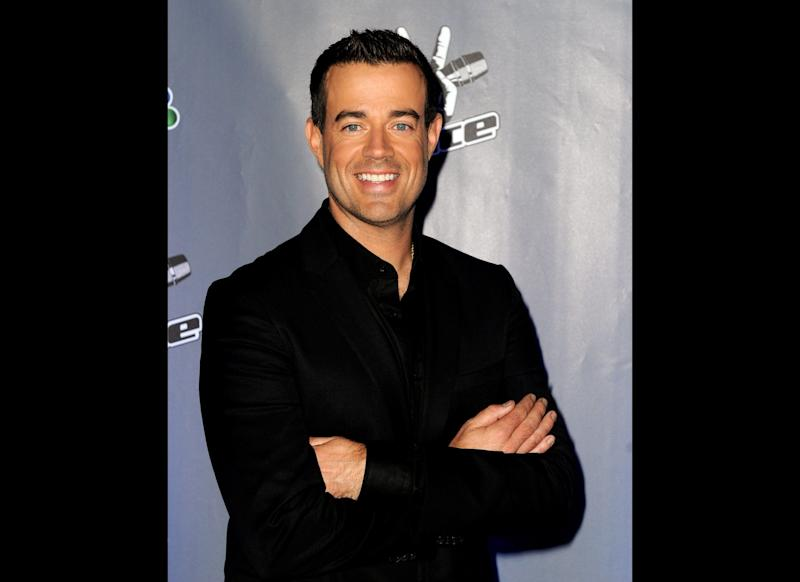 Host Carson Daly arrives at a press junket for NBC's 'The Voice' at Sony Studios on October 28, 2011 in Culver City, California. (Getty)