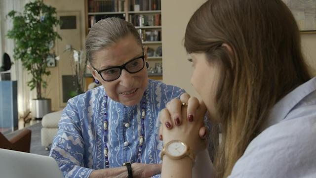 """<p>In one of a handful of high-profile docs about American icons hitting theaters this summer (read on for more), co-directors Betsy West and Julie Cohen look at the life and groundbreaking career of 84-year-old Supreme Court justice and feminist hero Ruth Bader Ginsburg, aka """"the Notorious RBG."""" The verdict from Sundance was a 100 percent fresh rating on <a href=""""https://www.rottentomatoes.com/m/rbg"""" rel=""""nofollow noopener"""" target=""""_blank"""" data-ylk=""""slk:Rotten Tomatoes"""" class=""""link rapid-noclick-resp"""">Rotten Tomatoes</a>.   <a href=""""https://www.go90.com/videos/4YkxaDpGX97"""" rel=""""nofollow noopener"""" target=""""_blank"""" data-ylk=""""slk:Watch trailer"""" class=""""link rapid-noclick-resp"""">Watch trailer</a> (Magnolia) </p>"""