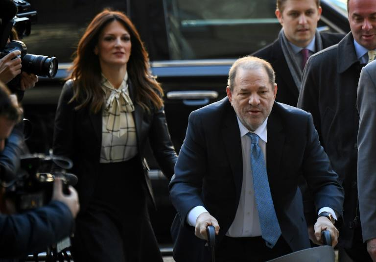 Harvey Weinstein, seen here arriving at Manhattan criminal court in a wheelchair February 24, has been transferred to a prison north of New York City