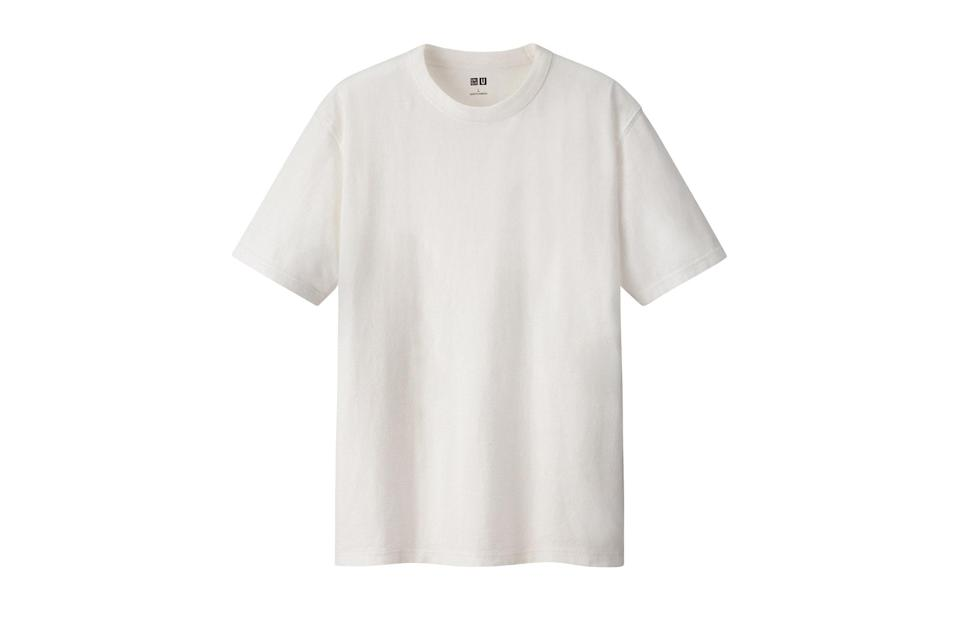 "$15, Uniqlo. <a href=""https://www.uniqlo.com/us/en/u-crew-neck-short-sleeve-t-shirt-422992.html?dwvar_422992_color=COL00&cgid=men-weekly-promotions#start=1&cgid=men-weekly-promotions"" rel=""nofollow noopener"" target=""_blank"" data-ylk=""slk:Get it now!"" class=""link rapid-noclick-resp"">Get it now!</a>"