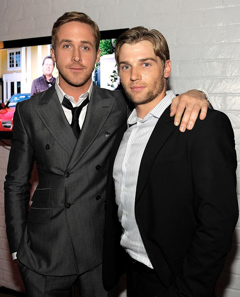 """<a href=""""http://movies.yahoo.com/movie/contributor/1804035474"""">Ryan Gosling</a> and <a href=""""http://movies.yahoo.com/movie/contributor/1804327276"""">Mike Vogel</a> arrive at the AFI Fest 2010 screening of <a href=""""http://movies.yahoo.com/movie/1809945752/info"""">Blue Valentine</a> on November 6, 2010."""