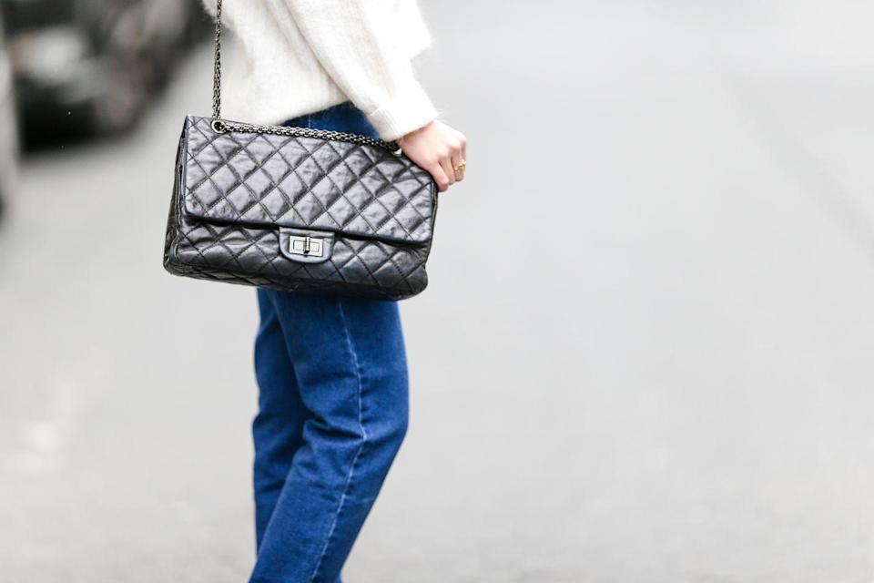 <p>Chanel's 2.55 bag (you can distinguish it from others because it doesn't have the double-C logo) was reissued in 2005 to commemorate the brand's 50th anniversary. </p>