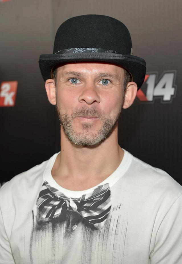 WEST HOLLYWOOD, CA - SEPTEMBER 24: Actor Dominic Monaghan attends the NBA 2K14 premiere party at Greystone Manor on September 24, 2013 in West Hollywood, California. (Photo by Charley Gallay/Getty Images for 2K)