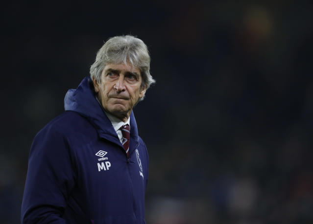 Manuel Pellegrini's role as West Ham manager could be under threat. (Getty Images)