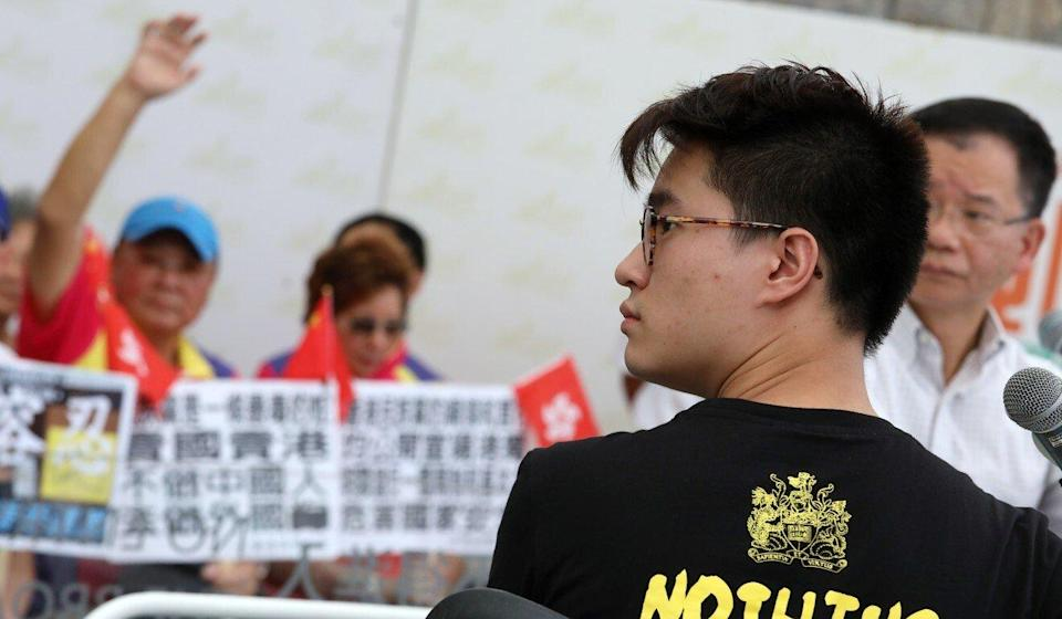 Davin Wong, then president of the Hong Kong University student union, is seen in Hong Kong in 2018. Photo: Nora Tam