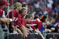 Arizona Cardinals fans cheer during the first half of an NFL football game against the Minnesota Vikings, Sunday, Sept. 19, 2021, in Glendale, Ariz. (AP Photo/Ross D. Franklin)