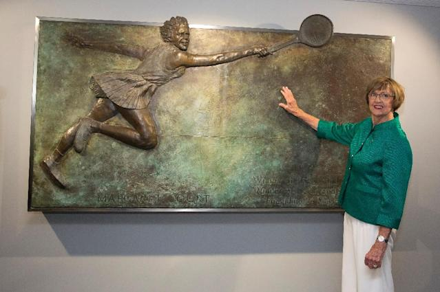 Margaret Court is Australia's greatest female tennis player, winning a record 24 major titles (AFP Photo/FIONA HAMILTON)