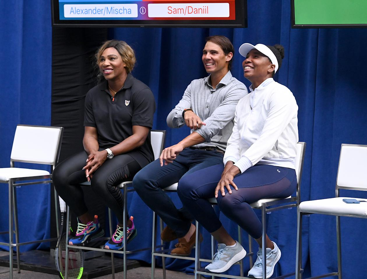 Ahead of their face-off, Serena and Venus chatted with Nadal.
