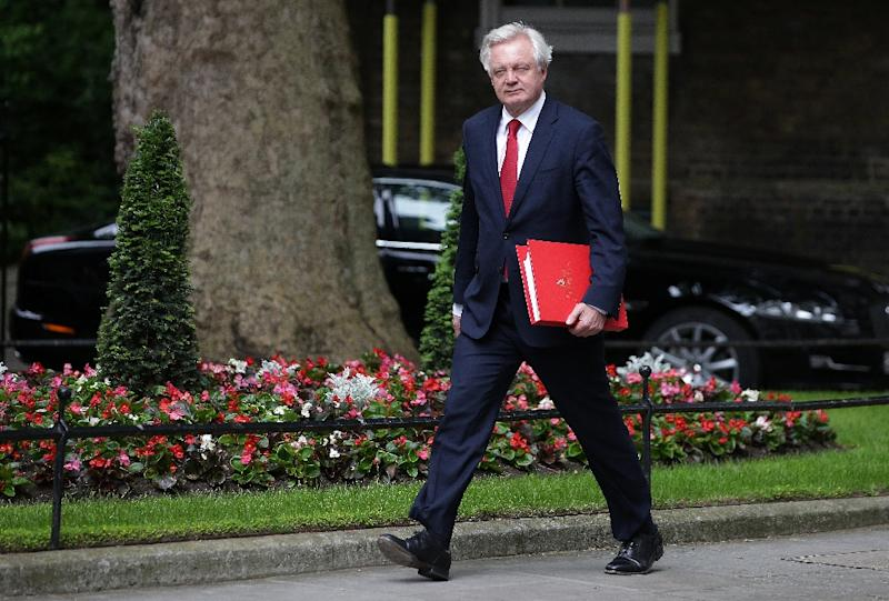 "Britain's Brexit Minister David Davis, pictured on June 12, 2017, said, ""The UK will remain a committed partner and ally of our friends across the continent"""