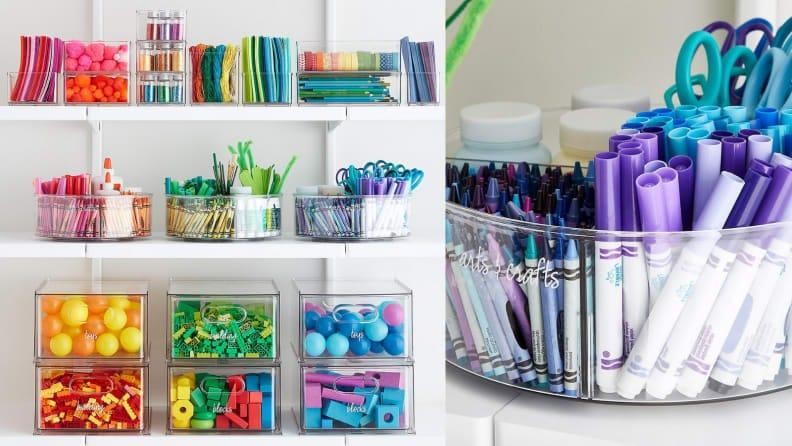 Let your crafts shine with these transparent containers.