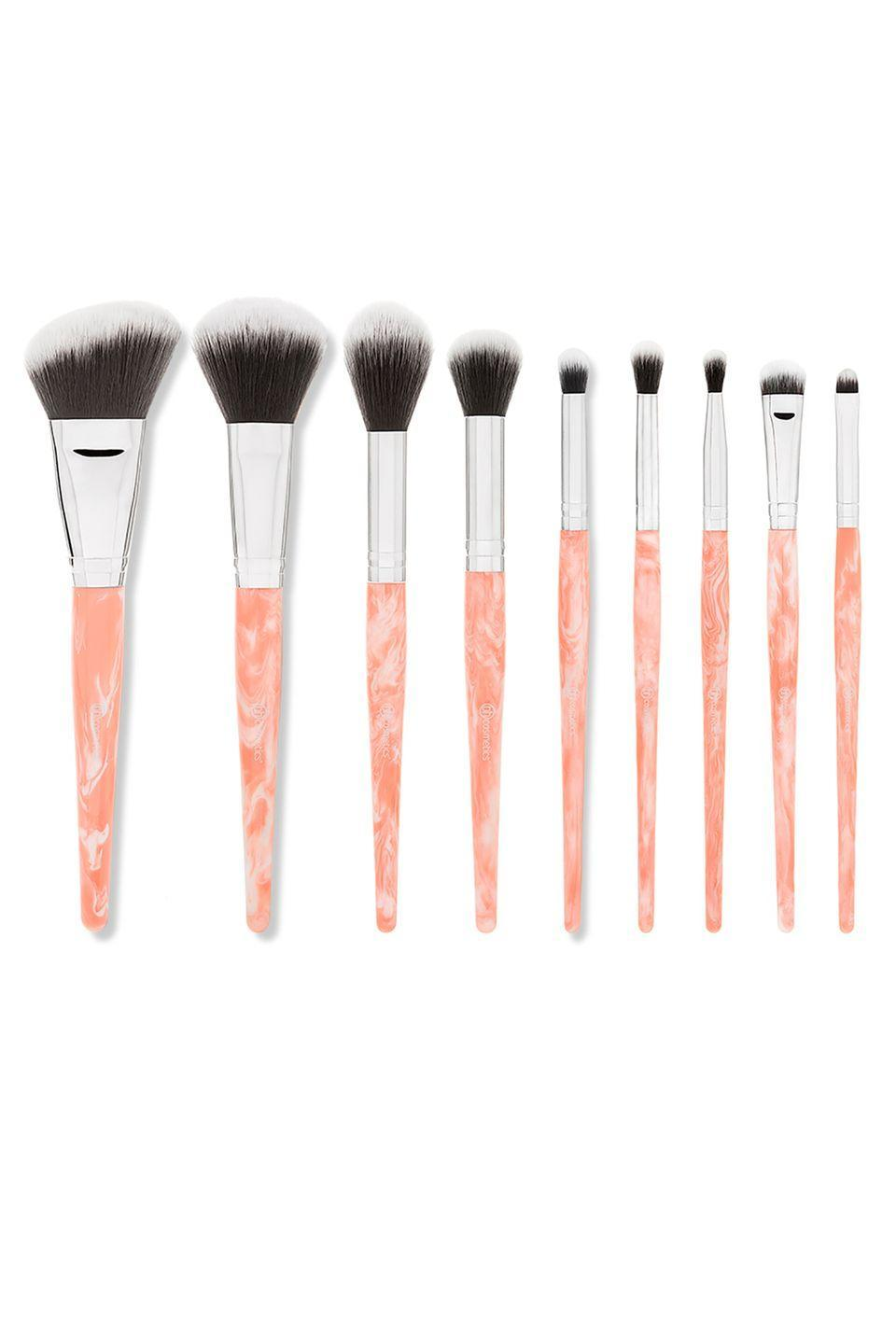 """<p>$13</p><p><a class=""""link rapid-noclick-resp"""" href=""""https://go.redirectingat.com?id=74968X1596630&url=https%3A%2F%2Fwww.bhcosmetics.com%2Frose-quartz-9-piece-brush-set&sref=http%3A%2F%2Fwww.womansday.com%2Flife%2Fg955%2Fgifts-for-her%2F"""" rel=""""nofollow noopener"""" target=""""_blank"""" data-ylk=""""slk:SHOP NOW"""">SHOP NOW</a></p><p>Everyone needs versatile <a href=""""https://www.womansday.com/style/beauty/a5410/how-to-clean-your-makeup-brushes-114566/"""" rel=""""nofollow noopener"""" target=""""_blank"""" data-ylk=""""slk:makeup brushes"""" class=""""link rapid-noclick-resp"""">makeup brushes</a> that look good, and these beauties do the trick. </p>"""