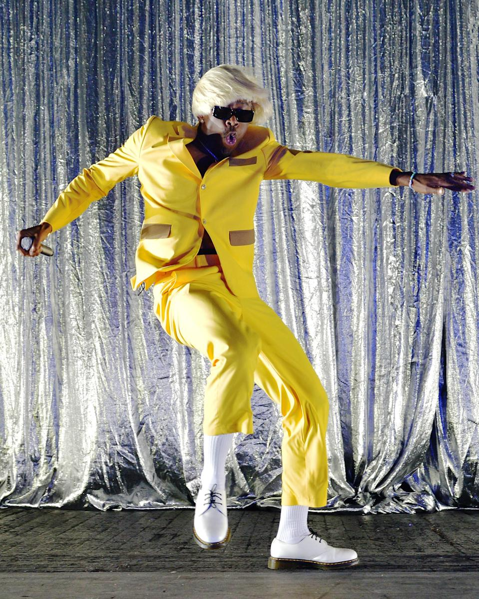 """<h1 class=""""title"""">September 17: Tyler, the Creator</h1> <div class=""""caption""""> Tyler, the Creator put on his dancing shoes—and suit, and wig. </div> <cite class=""""credit"""">Getty Images</cite>"""