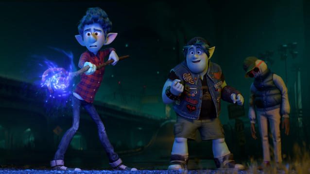 Tom Holland and Chris Pratt voice the lead characters in 'Onward'. (Credit: Pixar)