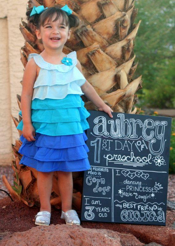"""<p>Offer a snapshot into your little one's personality with this crafty fact sheet. We're still giggling over this pre-schooler's favorite food. </p><p><em><a href=""""http://www.mimisdollhouse.com/first-day-of-school-sign/"""" rel=""""nofollow noopener"""" target=""""_blank"""" data-ylk=""""slk:See more at Mimi's Dollhouse »"""" class=""""link rapid-noclick-resp"""">See more at Mimi's Dollhouse »</a></em> </p>"""