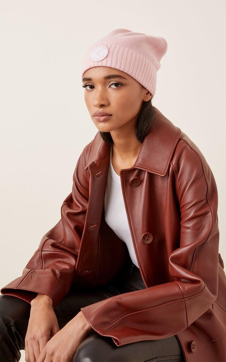 <p>This <span>Perfect Moment Patch Ii Wool-Blend Beanie</span> ($90) is the perfect shade of pink.</p>