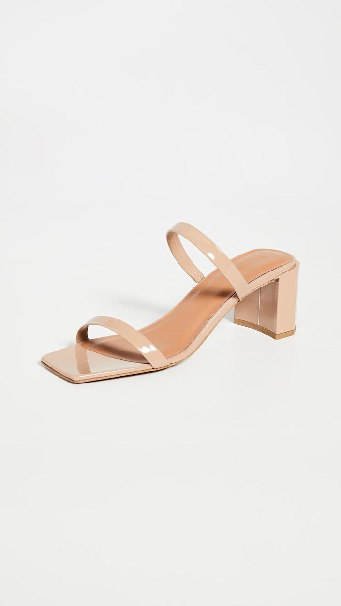 <p>The dressed up sandals I always turn to are without a doubt the <span>BY FAR Tanya Sandals</span> ($384). The low, thick heel is easy to walk in, and they just make every outfit look more elevated. They're perfect for pairing with jeans, or a dress to an event.</p>