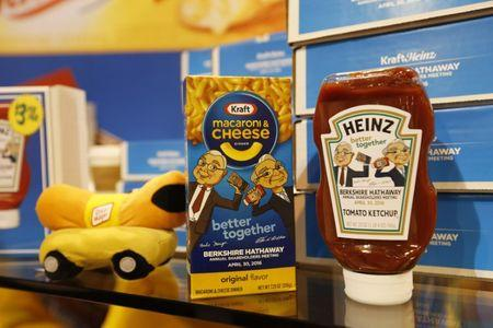 Commemorative items for sale at the Kraft Heinz booth during the Berkshire Hathaway Annual Shareholders Meeting in Omaha Nebraska