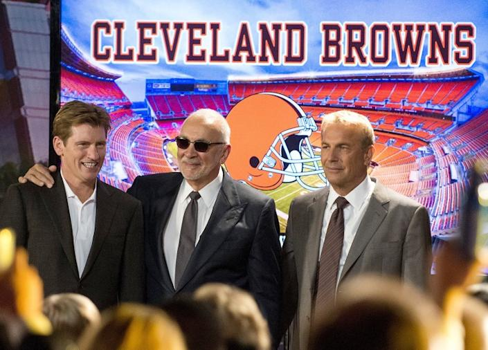 "Denis Leary, Frank Langella and Kevin Costner star in ""Draft Day."""