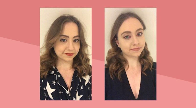 Left: Day three; Right: Day three, a new look (Photo: HuffPost UK)