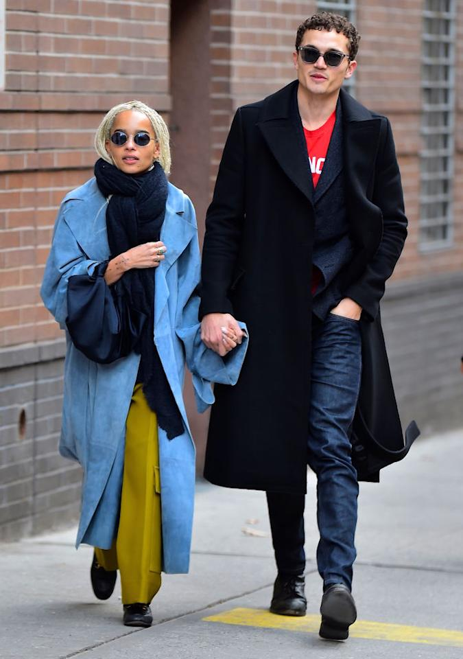 <p>OK, we have a confession to make. We're not quite sure who's style we love more. Zoë is quickly becoming one of 2017's most respected style muses with a penchant for colour blocking, cat-eye sunnies and nineties-inspired double denim. While boyfriend Karl Glusman looks effortlessly cool on a 24 hour basis. Remember his millenial pink buzz cut? Who doesn't… <em>[Photo: Getty]</em> </p>