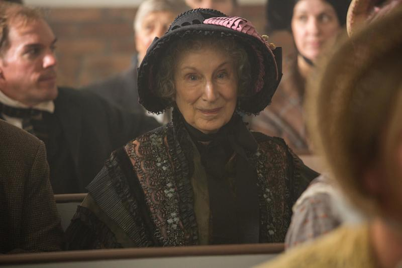 "Margaret Atwood in a cameo appearance in ""Alias Grace."" (Netflix)"