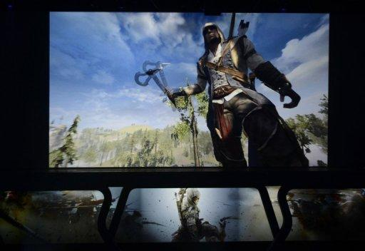 Ubisoft presents 'Assassin's Creed 3,' during the Ubisoft's media briefing at the E3 2012 in Los Angeles, California, on June 4