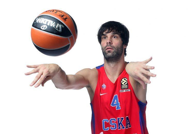 As you might expect, European star Milos Teodosic has some pretty sweet hair. (Getty Images)