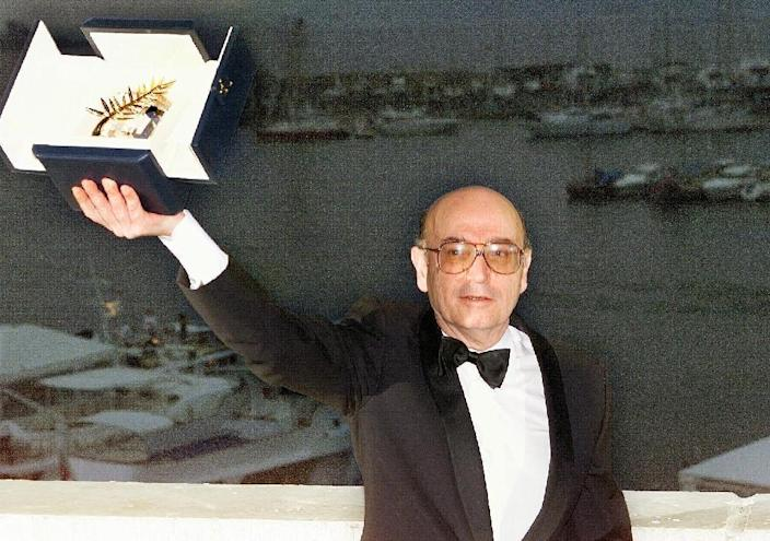 """Angelopoulos won the prestigious Palme d'Or at Cannes in 1998 for """"Eternity and a Day"""" (AFP Photo/Christophe SIMON)"""