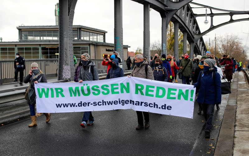 FILE PHOTO: Demonstration against the government's COVID-19 restrictions in Berlin