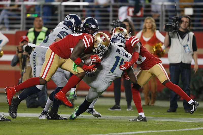 Watch Tartt strip ball from Seahawks, preserve 49ers' lead