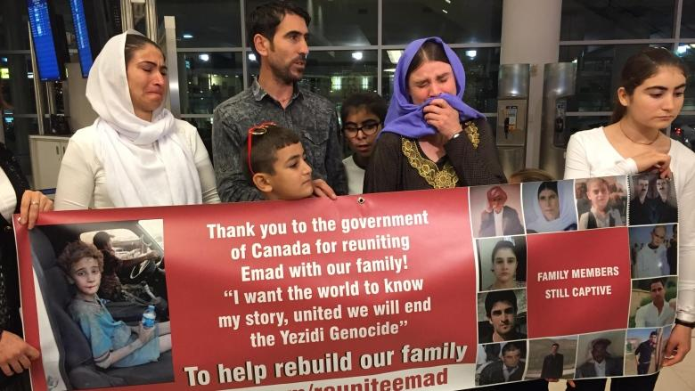 Yazidi boy who was captured by ISIS reunited with family
