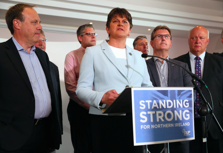 DUP leader Arlene Foster and her party have 10 MPs (Picture: PA)