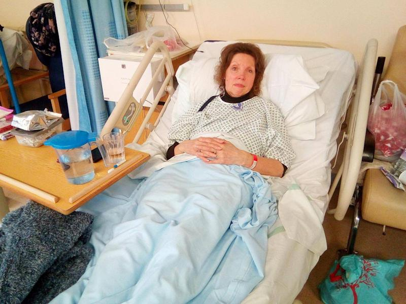 MS Nash praised hospital staff and avoided blaming employees for her long wait SWNS