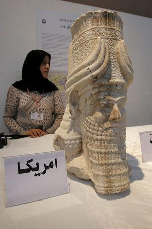 A recovered artifact is displayed at the National Museum of Iraq in Baghdad, Iraq July 8, 2015.   REUTERS/Khalid al-Mousily