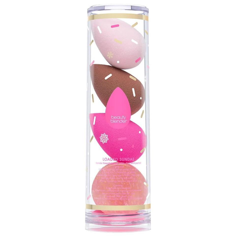 <p>If they can't part with their Beautyblender, they'll be excited to receive this <span>Beautyblender Loaded Sundae Makeup Sponge Set</span> ($49). It also comes with a blender cleanser, so they can actually clean their tools.</p>