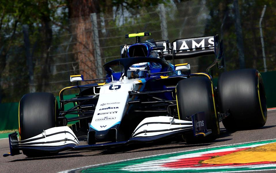 Iranian-Canadian Formula One driver Nicholas Latifi of Williams Racing in action during the first practice session of the Formula One Grand Prix Emilia Romagna at Imola race track, Italy, 16 April 2021. Formula One Grand Prix Emilia Romagna, Imola, Italy - DAVIDE GENNARI/EPA-EFE/Shutterstock