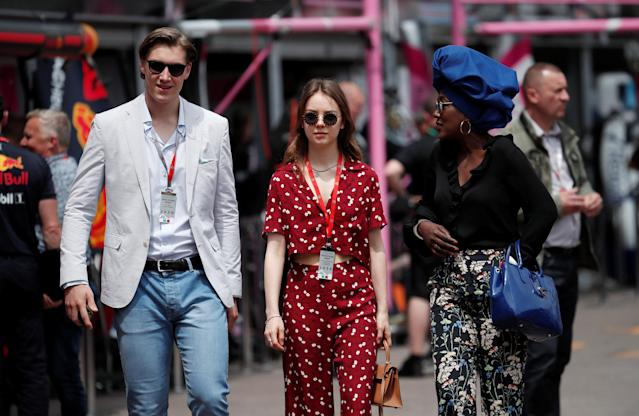 Motoracing - Formula One F1 - Monaco Grand Prix - Circuit de Monaco, Monte Carlo, Monaco - May 24, 2018 Princess Alexandra of Hanover and Ben Sylvester Strautmann during practice REUTERS/Benoit Tessier