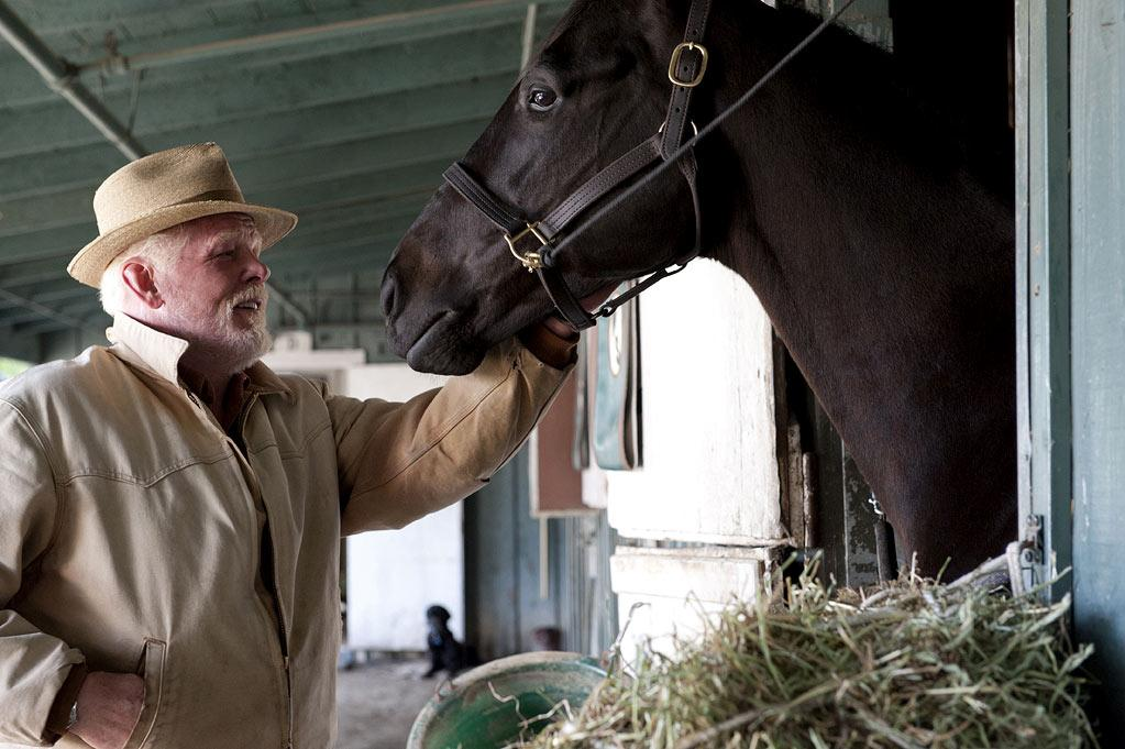 "Nick Nolte stars as The Old Man in ""Luck."""