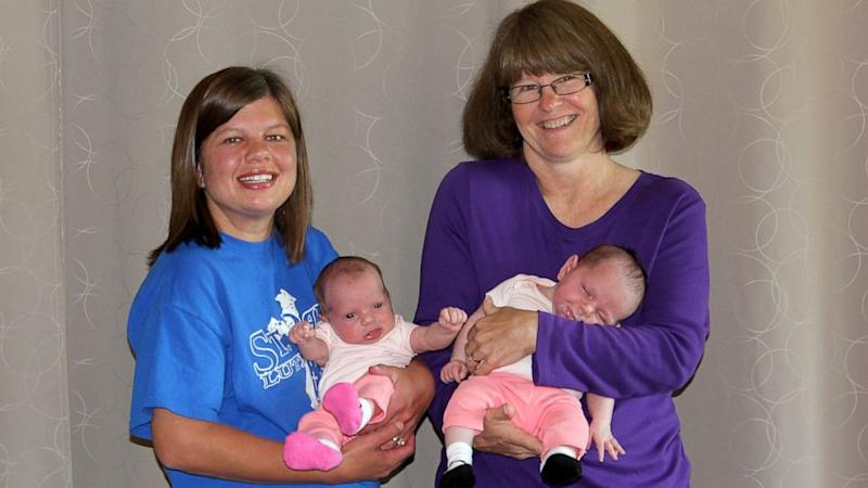 Grandma Gives Birth to Twin Granddaughters