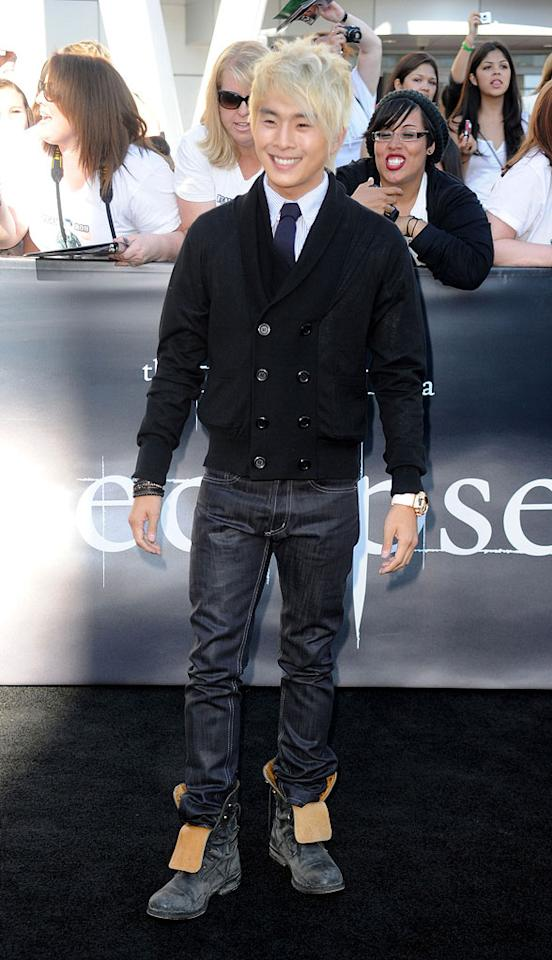 """<a href=""""http://movies.yahoo.com/movie/contributor/1809796899"""">Justin Chon</a> at the Los Angeles premiere of <a href=""""http://movies.yahoo.com/movie/1810074301/info"""">The Twilight Saga: Eclipse</a> - 06/24/2010"""