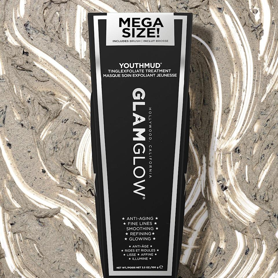 """<br><br><strong>GLAMGLOW</strong> Glow Stimulating Treatment 100g, $, available at <a href=""""https://www.feelunique.com/p/GLAMGLOW-YOUTHMUD-Glow-Stimulating-Treatment-100g"""" rel=""""nofollow noopener"""" target=""""_blank"""" data-ylk=""""slk:FeelUnique"""" class=""""link rapid-noclick-resp"""">FeelUnique</a>"""