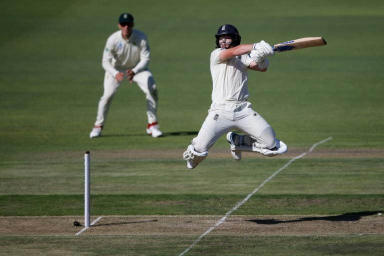 England's Ollie Pope, playing in his sixth Test made an oustanding 135 not out in England's first innings