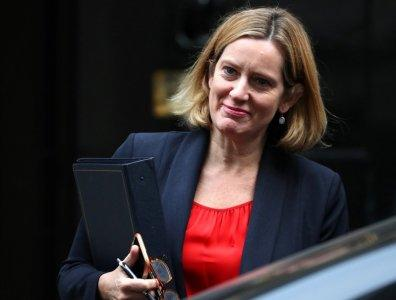 Amber Rudd, Britain's Home Secretary, leaves 10 Downing Street in London, Britain, October 17, 2017. REUTERS/Hannah Mckay