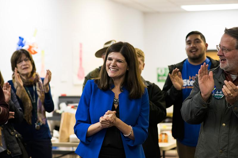 Stevens campaigns in her Michigan district during her 2018 congressional run | Brittany Greeson—The New York Times/Redux